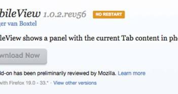 Complementos de Firefox Mobile View