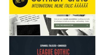 Página para descargar fuentes gratis The League for Moveable Type