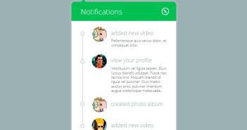 Archivos PSD Notification Widget