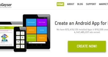 Herramienta para crear aplicaciones para Android: AppsGeyser