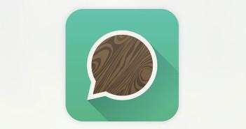 Diseño de iconos en el de desarrollo de aplicaciones móviles: Wood chat
