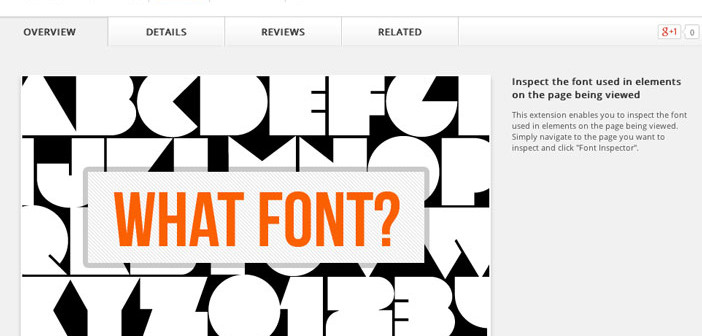 Extensiones Google Chrome para diseñadores: Font Inspector