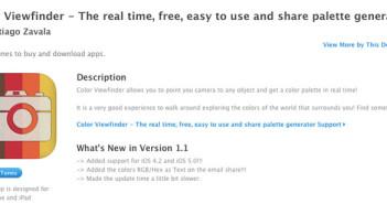 iOS app Color Viewfinder