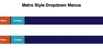 JavaScript plugin Metro Style DropDown Menu