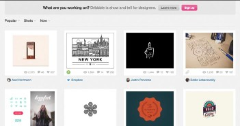 Lista de redes sociales para diseñadores: Dribbble