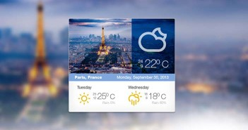 PSD Gratis Weather Widget