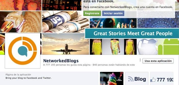 Aplicaciones de Facebook para páginas corporativas: NetworkedBlogs