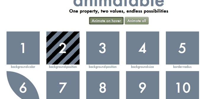 Generador de codigo CSS Animatable