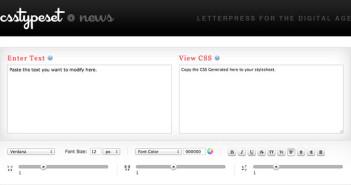 CSS Editor para generar códigos: CSS TypeSet