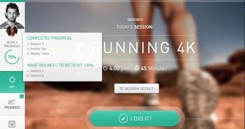 Interfaz de usuario: Panel de administración de Fitness Web App - Sessions