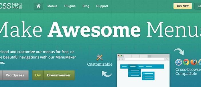 Generador de menu CSS3: Css Menu Maker