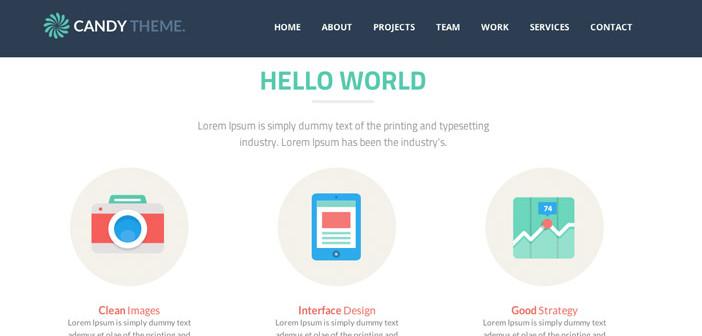 Plantillas HTML inspiradas en el Flat Design: Candy