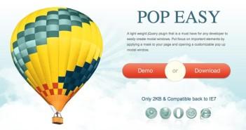 Plugin JQuery para añadir ventanas modales Pop Easy