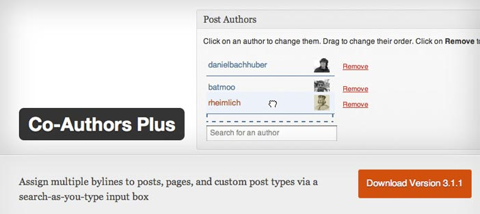 Plugin Wordpress Co-Author Plus