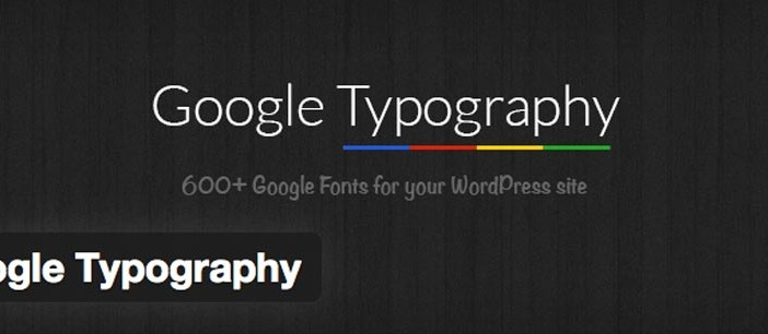 Plugin Wordpress Google Typography