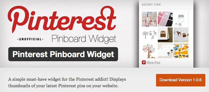 Plugin Wordpress Pinterest Pinboard Widget