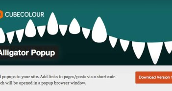 Plugin Wordpress para crear ventanas emergentes Alligator Popup