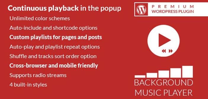 Plugin Wordpress para incorporar reproductor multimedia: Background Music Player