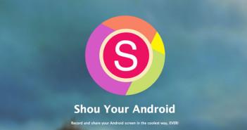 Programas para Android para grabar pantalla de dispositivo: Shou