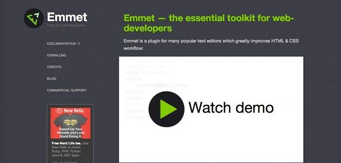 Extensión para Sublime Text Editor Emmet