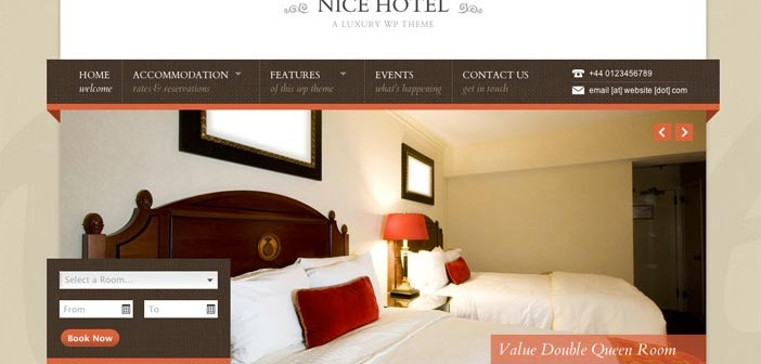 Temas Wordpress para hoteles: Nice Hotel Accomodation