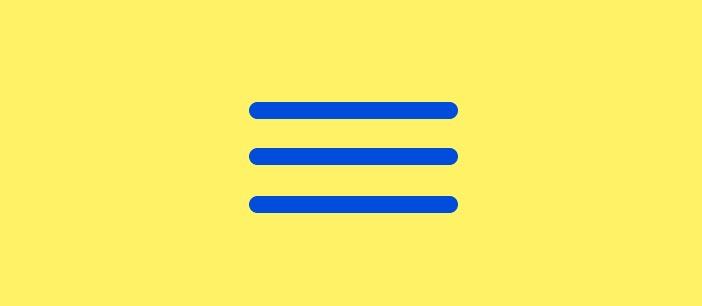 Hamburger Menu: Solución para diseño en móviles