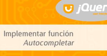 Implementar función Autocompletar con JQuery UI
