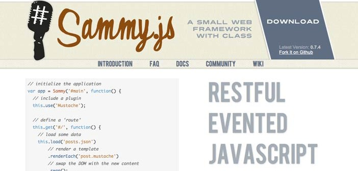 JavaScript Framework Sammy.js