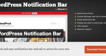 Plugin Wordpress para añadir barras de notificación: Wordpress Notification Bar
