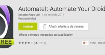 Programas para Android para automatizar procesos: AutomateIt