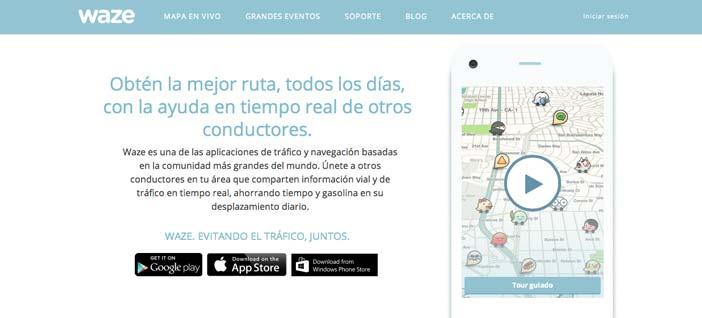 Aplicaciones moviles para viajeros: Waze
