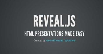 Herramienta basada en codigo HTML para presentación de diapositivas: Reveal.js