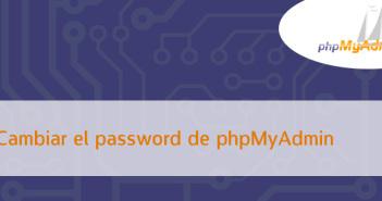 Cómo cambiar el phpMyAdmin password