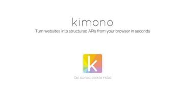 Kimono: Crear aplicaciones nunca fue tan sencillo