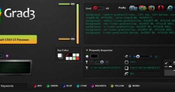 Generador de gradiente CSS: Grad3 UI Processor