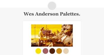 Las paletas de colores de Wes Anderson