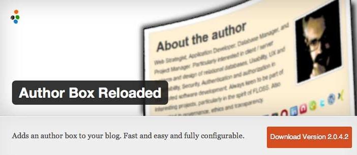 Plugin Wordpress para incluir biografía de autor: Author Box Reloaded