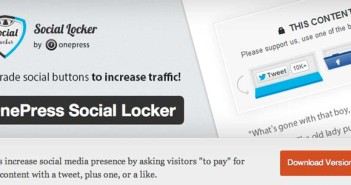 Plugin Wordpress para bloquer contenido: Social Locker