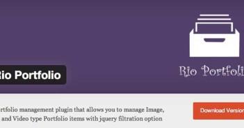 Plugin Wordpress para optimizar portafolio: Rio Portfolio