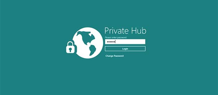 Aplicaciones para Windows 8.1 para proteger tus datos online: Private Hub
