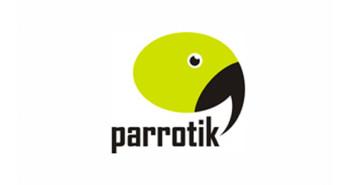 Ejemplos de diseño de logos para chat: Parrotik
