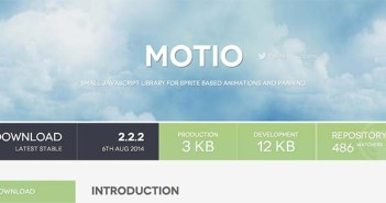 Librerías de Javascript plugin para añadir animaciones: Motio