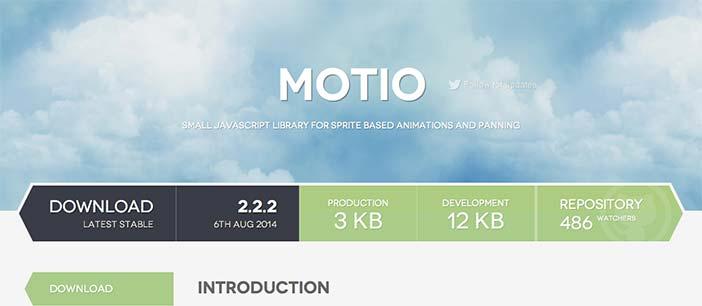 Librerías de Javascript plugin para añadir animaciones: Motio