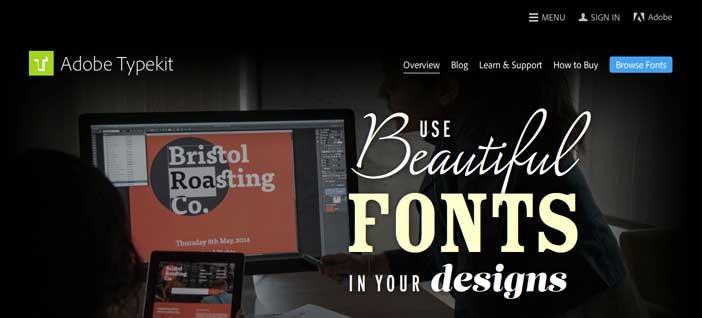 Recursos online para diseño tipográfico: Adobe Typekit