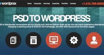 Servicio PSD to Wordpress: Wordprax