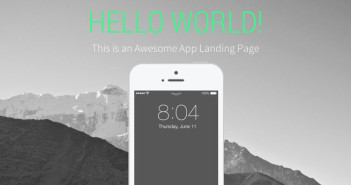 Template Bootstrap para sitios web variados: Landy