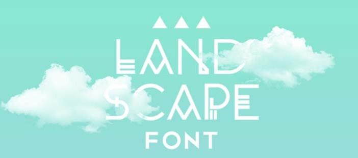 Tipografias gratis para tu diseño minimalista: Landscape