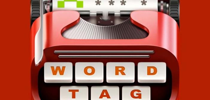 Ejemplos de iconos realistas de iOS app: Word Tag