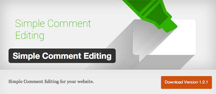 Plugin Wordpress Simple Comment Editing