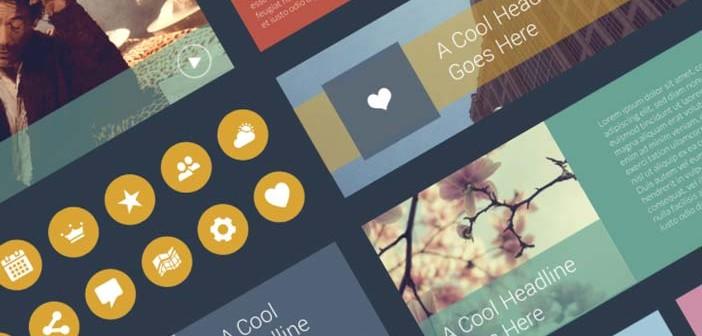 Archivos PSD gratuitos: Flat UI Elements Freebie